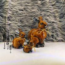 تندیس خرگوش در سه سایز با هم ساخه شده از جنس رزین، قابل شستشو و رنگ ثابت
