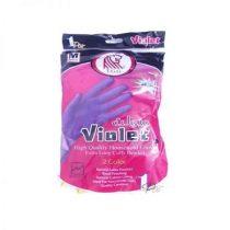 دستکش خانگی ساق بلند با آستر کتان ویولت (violet)