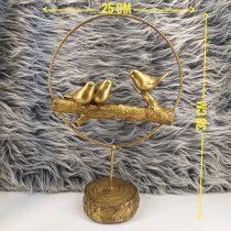 قیمت تندیس گنجشک طلایی کد 03 ساخته شده از رزین قابل شستشو و رنگ ثابت